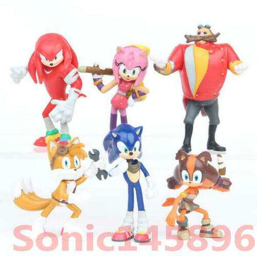 Sonic The Hedgehog Knuckles Tails 6 PZ ACTION FIGURE MODELLINO BAMBINI GIOCATTOLO cake topper