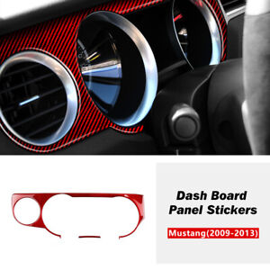 Carbon Fiber Interior Dashboard Panel Cover Trim For Ford Mustang 2009-2013 6Pcs