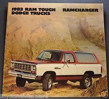 1983 Dodge Ramcharger Truck Brochure AD-150 AW-150 4x4 Excellent Original 83