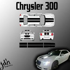 Fits-Chrysler-300-Rally-Racing-Stripes-Vinyl-Decal-Sticker-Graphics-Kit-Car