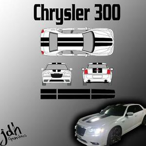 Chrysler 300 Rally Racing Stripes Vinyl Decal Sticker Graphics Kit