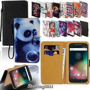 Leather-Stand-Flip-Card-Wallet-Cover-Case-For-Various-Motorola-Models-SmartPhone