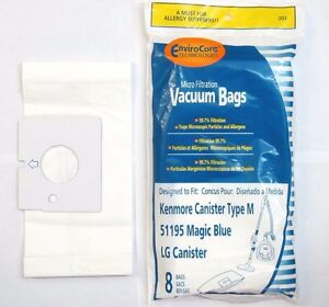 Image Is Loading Kenmore 51195 Magic Blue Microfiltration Vacuum Bags Lg
