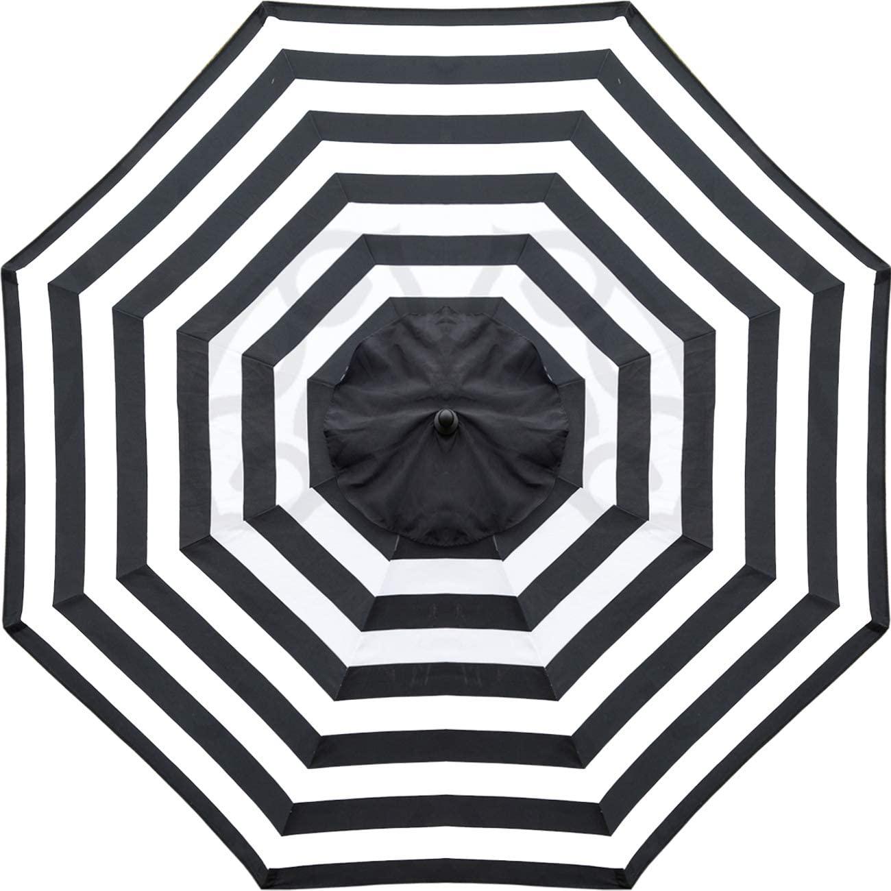 Heininger 1305 Destination Gear Italian Stripe Black And White 7 5 Ft Patio For Sale Online Ebay