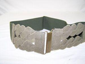 Women-039-s-Wide-Green-Cummerbund-Fashion-Twist-Waist-Belt-3-25-034-L-XL