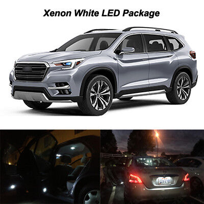 2019 Subaru Ascent WHITE LED Interior Light Accessories Package Kit 17 Bulbs