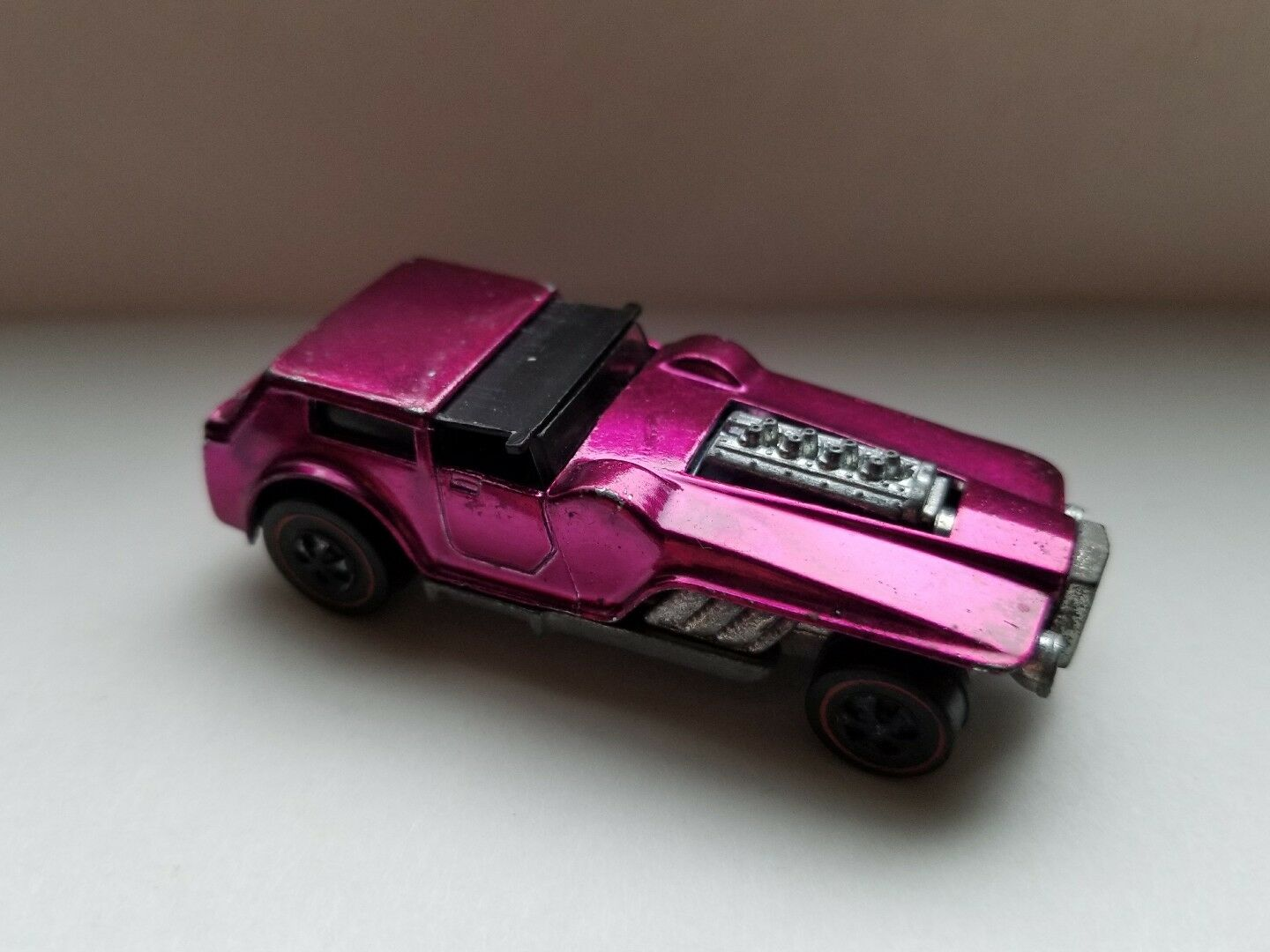 HOT WHEELS ORIGINAL VINTAGE rossoLINE 1971 THE HOOD U.S. Magenta NICE MATTEL