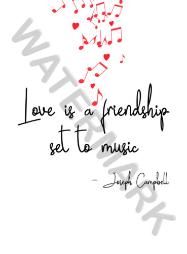 Love Is Music Valentines Large Wall Art Poster Print LF3882