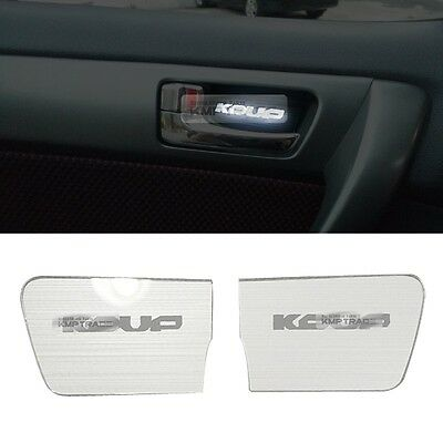 LED Door Catch Hairline Silver Molding Cover Plate For KIA 2010-2012 Forte Koup
