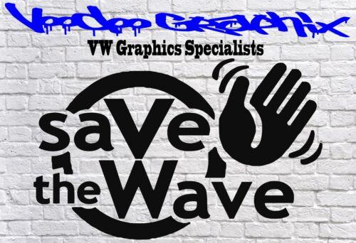 SAVE THE WAVE Funny Car Window Bumper VW Beetle BUG VDUB Vinyl Sponsor Decals