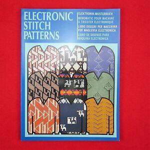 Musterbuch-MB-E-S550-Elektronik-verschiedene-Muster-Silver-Reed-Strickmaschine