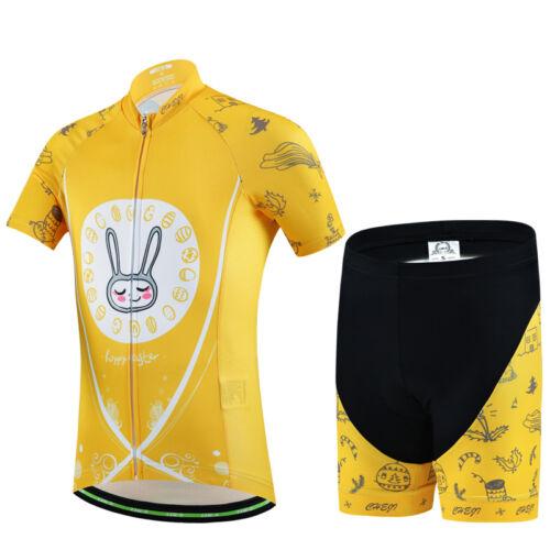 Bicycle Bike Cycling Jersey Short Sleeves Set For Kids Boys Girls Children 2