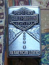 AUTOMOTIVE HARLEY DAVIDSON AMERICAN LEGEND ZIPPO LIGHTER FREE P&P FREE FLINTS