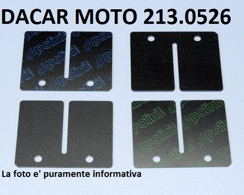 213.0526 Set Laminillas Carbono Polini Peugeot XPS 50 T Minarelli AM6