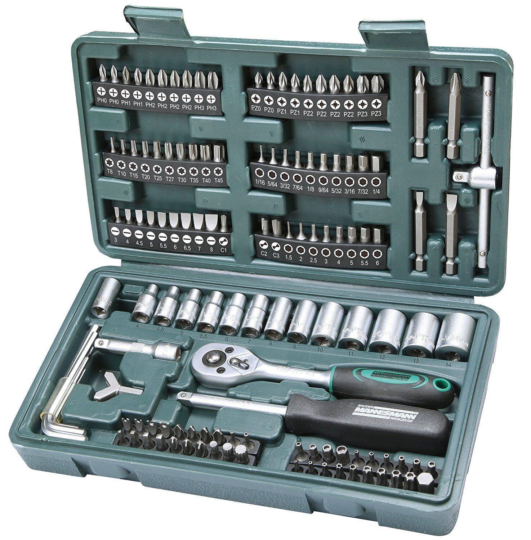Garage Tool Box Set di riparazione AUTO AUTO AUTO MOTO UTENSILI MANUALI FAI DA TE Home Service Kit 130pcs f525cc
