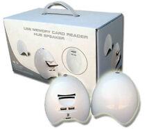 Anyware FHB05 Egg Shaped USB Hub/Speaker/Card Reader Combo