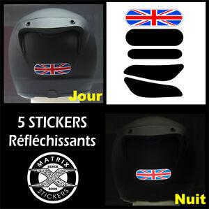 5-Stickers-RETRO-REFLECHISSANTS-pour-CASQUE-mod-5-TRIUMPH-Street-Speed-Triple