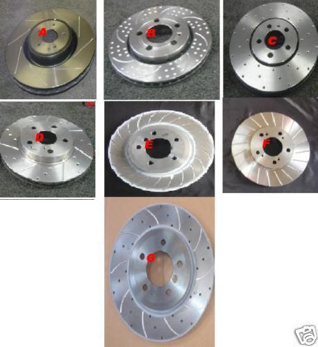 Passat 1996-2005 perforados acanalado Disco De Freno 288