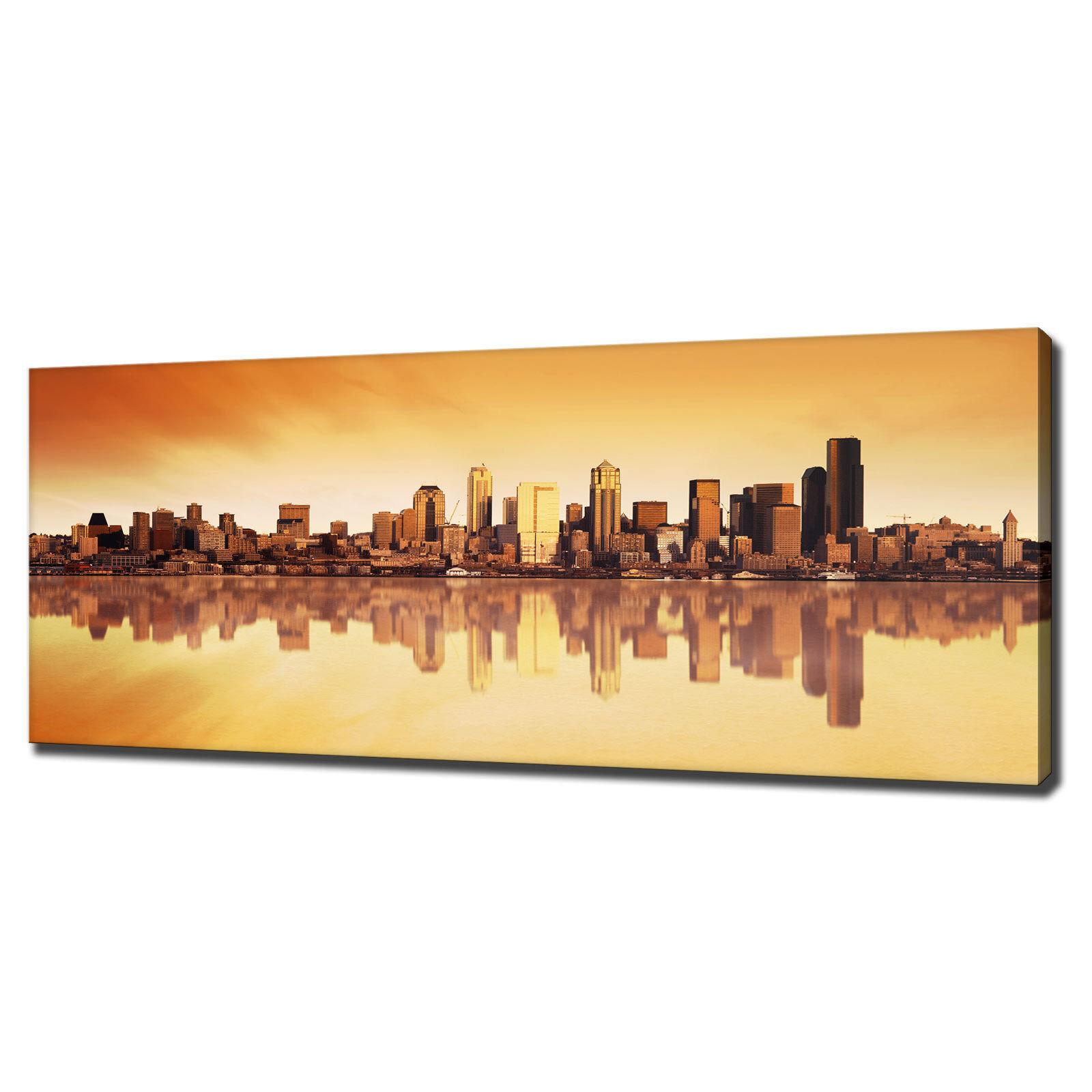 MANHATTAN NEW YORK SKYLINE Horizon Tela Stampa Foto Wall Art CONSEGNA GRATUITA