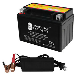 12V 2Amp Charger Mighty Max YTX9-BS Battery Replaces Honda CBR600F F4 99-00