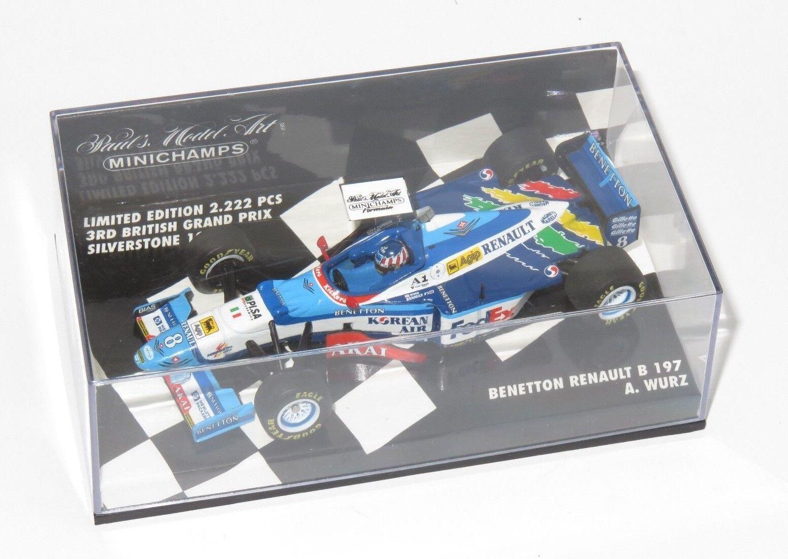 1/43 Benetton Renault B197 Alex Wurz saison 1997 1997 1997 British GP Limited Edition   à L'aise  ead761