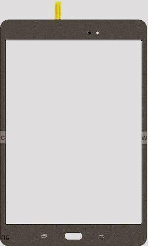 "Smoky Titanium Samsung Galaxy Tab A 8/"" SM-T350NZ Touch Screen Digitizer Glass"