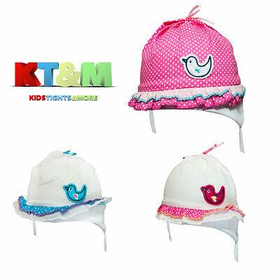 New Baby Girl Summer Cotton Beach Holiday Hat Cap Head Scarf  6-18 Months Cherry