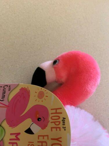 Stuffed Flamingo with Gummy Eggs New