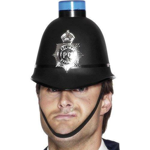 Smiffy/'s Police Helmet With Flashing Siren Light