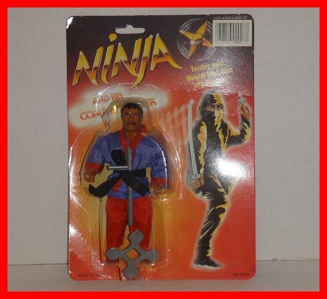 VINTAGE 1986 HANG YIP - NINJA AND HIS COMBAT MASTER V2 - CARDED MOTU KO