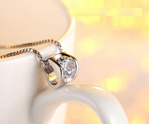 "Elegant Love /""Heart/"" 925 Sterling Silver Cubic Zirconia Pendant Necklace"