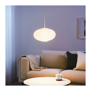 ikea solleftea pendant lamp shade rice paper white round shape. Black Bedroom Furniture Sets. Home Design Ideas