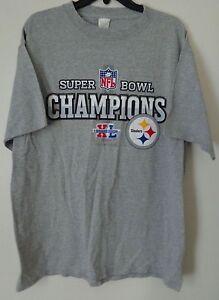 a8e0366cb Pittsburgh Steelers Super Bowl Champions XL Grey T-Shirt Sz. L | eBay