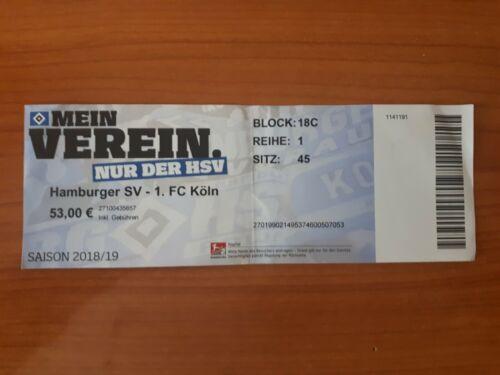 1.FC Köln Sammler Ticket 18//19  HSV