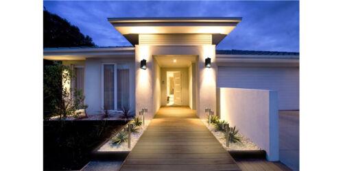 Applique esterno doppio fascio di luce fredda 10w 2vie lampada parete muro 9690