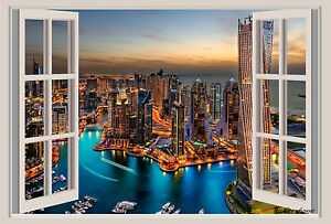 Waterfalls Wall Mural Window View Repositionable Color Wall Sticker 36x25