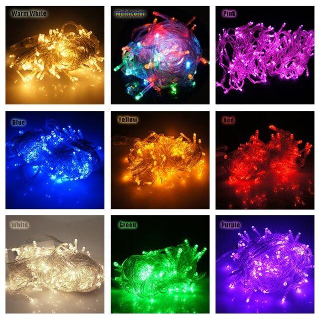 Solar/AC/Battery power 20/50/100/200 LED Fairy String Light Garden Xmas Lamp