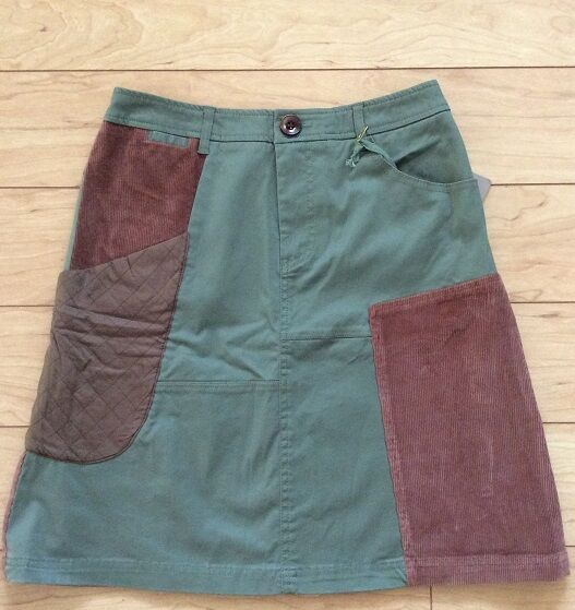 Patchwork Cargo Skirt By Meadow Rue Sz 0, 2 Green color NW ANTHROPOLOGIE Tag