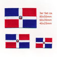 3 Dominikanische Republik Santo Domingo Flags Patch Aufnäher Aufbügler Set 1003