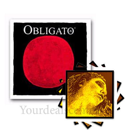 ^ Obligato Violin String Set 4 4     Evah Pirazzi Gold' Steel E Ball