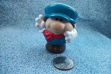 Little Tikes Train Conductor Toy Figure PVC Plastic Blue Overalls & Cap