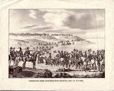 Napoleon Russlandfeldzug Bayerische Cavallerie Düna Lettland 1812 Lithographie