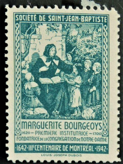 Societe Saint Jean Baptiste 1942 MARGUERITE BOURGEOYS (GUM) Canada F/VF SSJB