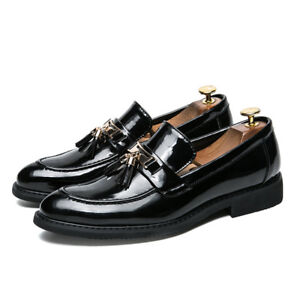 mens driving slip on casual shoes smart loafers leather
