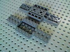Lego 6 x 52036 dark bluish  grey vehicle base Free uk p/&p chassis