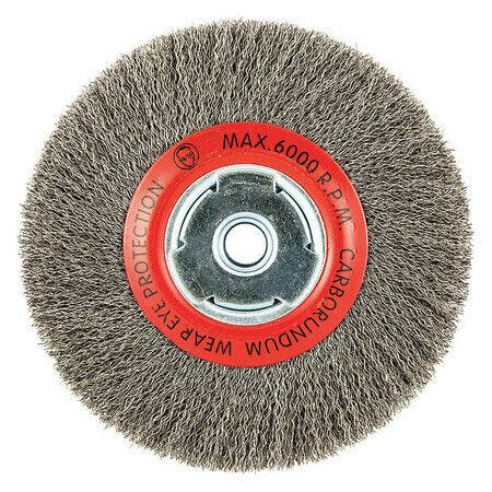 """Wire ZORO SELECT 66252838775 Wire Wheel Brush,0.014/"""" dia"""