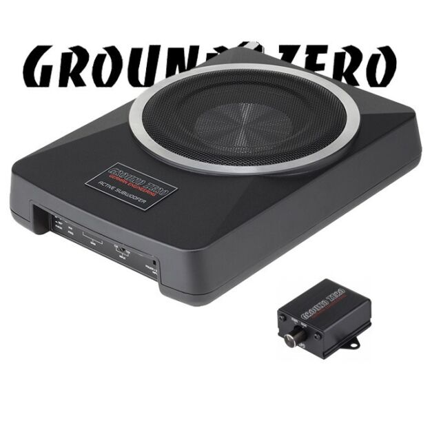 Ground Zero Gzub 800XACTII-20cm Aktivwoofer Incl. Amplificador Aktivbass Woofer