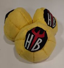 Hellbender 10 Panel SAND Filled Microsuede HackySack Footbag Yellow & Black