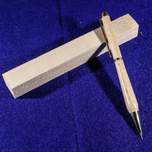 Five Beech wood blanks for pen turning and small woodworking projects