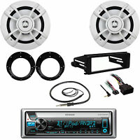Kenwood Bluetooth Cd Radio, Flhx Harley Din Kit, 6.5speakers, Adapters, Antenna on sale